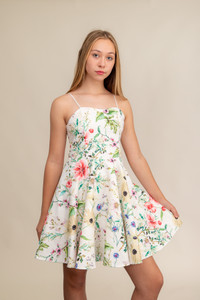 Floral Fit and Flare Dress in a longer Length.