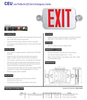 CEU Series Low Profile All LED Exit & Emergency Combo