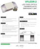 VFLEDR-2  LED Low Profile Emergency Light