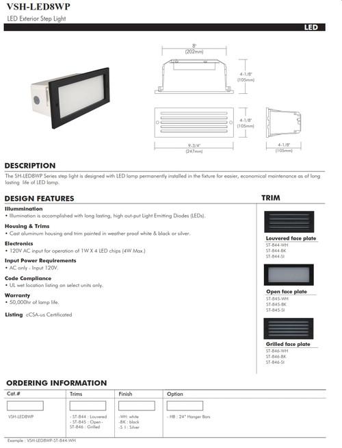 VSH-LED8WP  Outdoor LED Step Light