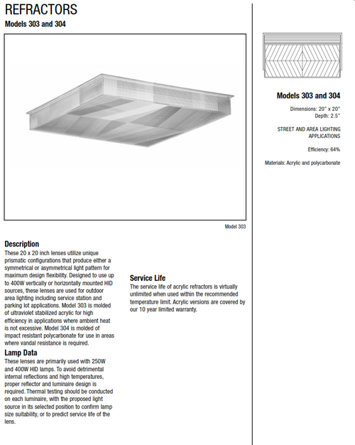 LEX-303-A Replacement Canopy lens (LEX-303-A)