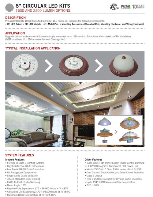$44.50 Keystone Technologies KT-RKIT L.E.D. Round Retrofit Kits