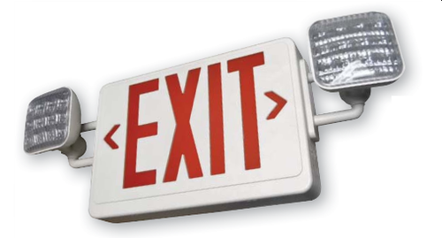 LEDCXTEU LED Exit and Emergency Combination Sign