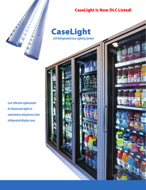 Vertical Caselight LED Refrigerated Case Lighting System to Retrofit Freezer Cases