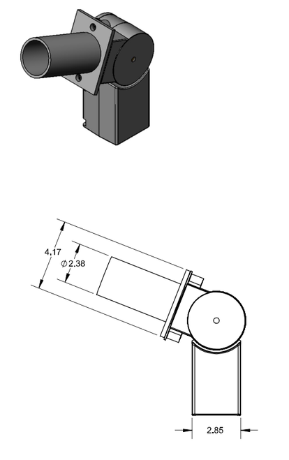 Adjustable Knuckle Fitter with Tenon Adapter