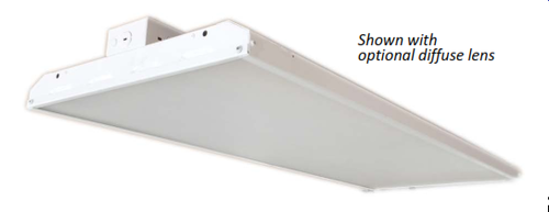 The VLEDFHB320 is a full-body, premium-performance LED high bay luminaire. It is designed to illuminate a wide variety of settings, including commercial, industrial & retail settings such as warehouses, manufacturing plants, sporting venues and big-box retailers. With a painted, steel housing, the VLEDFHB320 provides high levels of durability and performance. High-efficacy, long- life LEDs provide both energy and maintenance cost savings compared to traditional, HID high bays.