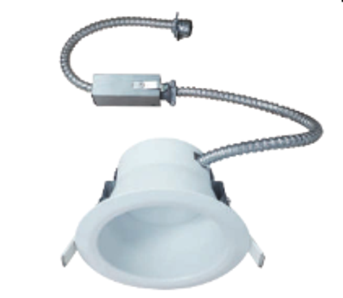 """The VSFK4 is a Commercial grade, DoB, AC Direct LED, Recessed Downlight Retrokit with integral one piece housing and mouse-trap spring clips to allow for easy installation. Designed for use with existing Lum-Tech Lighting 4"""" Commercial Incandescent, Fluorescent and Metal Halide Housings. It is also compatible with most 4"""" commercial housings with aperture openings between 4-1/2"""" and 5"""". Available with a 15W or 20W, high efficacy Universal voltage, DoB LED module with Triac and 0-10V dimming. The optical diffuser produces high lumen transmission and even illumination. Suitable for Damp Locations."""