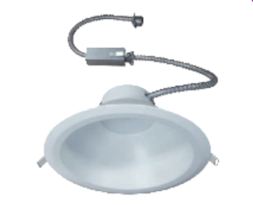 """The VSFK6 is a Commercial grade, DoB, AC Direct LED, Recessed Downlight Retrokit with integral one piece housing and mouse-trap spring clips to allow for easy installation. Designed for use with existing 6""""Commercial Incandescent, Fluorescent and Metal Halide Housings. It is alsocompatible with most 6"""" commercial housings with aperture openings between 6-3/8"""" and 7-1/4"""". Available with a 15W, 20W or 30W, high efficacy Universal voltage, DoB LED module with Triac and 0-10V dimming. The optical diffuser  produces high lumen transmission and even illumination. Suitable for Damp Locations."""