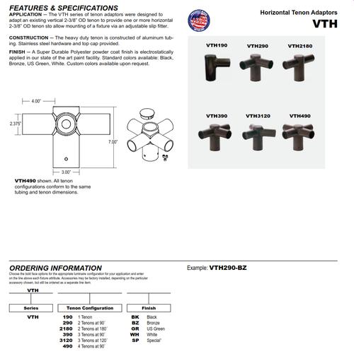 Horizontal Tenon Adaptors