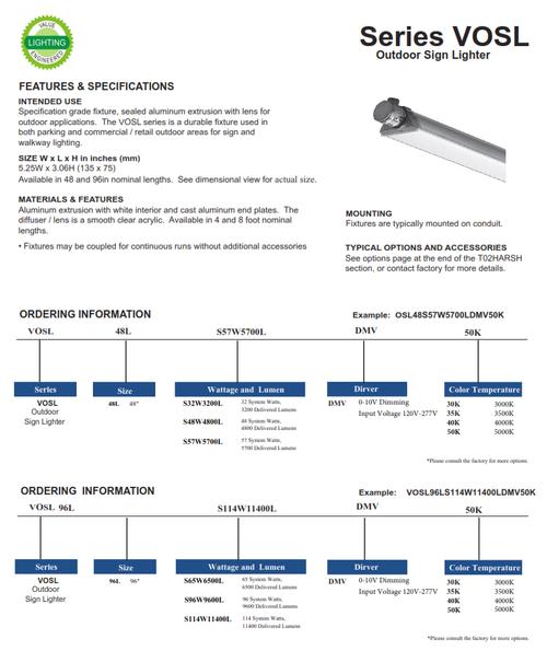 VOSL LED Signlighter