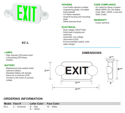 Economy Exit/Emergency Combination Sgn