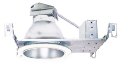 """4"""" flat frame-in kits combined with LED module and integral reflector. This is designed for use in non-insulated ceiling.  Insulation material must be kept a minimum of 3"""" from fixture.  Provided in high efficacy LED with dimmable driver and the special optical diffusion allows high lumen transmission and light uniformity"""
