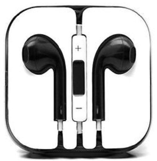 Earphone Earbud Headset Headphone Lot 10x pcs. BLACK Color/Barcode.