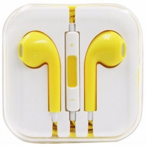 Earphone Earbud Headset Headphone 1 pcs. YELLOW Color/Barcode.