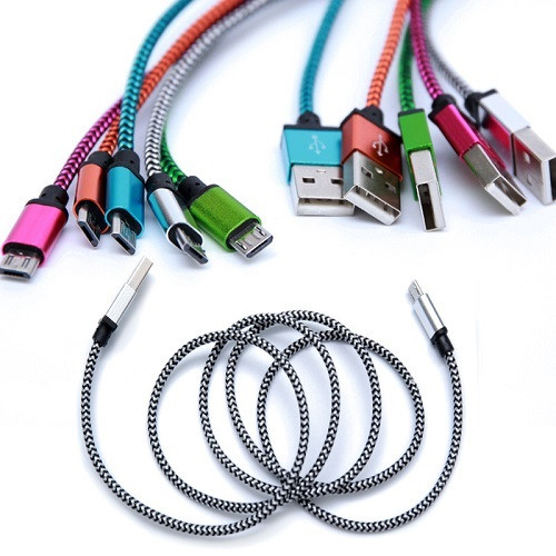 Micro USB Cable 1 Meter (3 Feet) 20 CT. Bag Mix Color.
