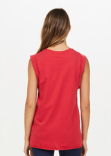 MUSCLE TANK - RED [USW420084]