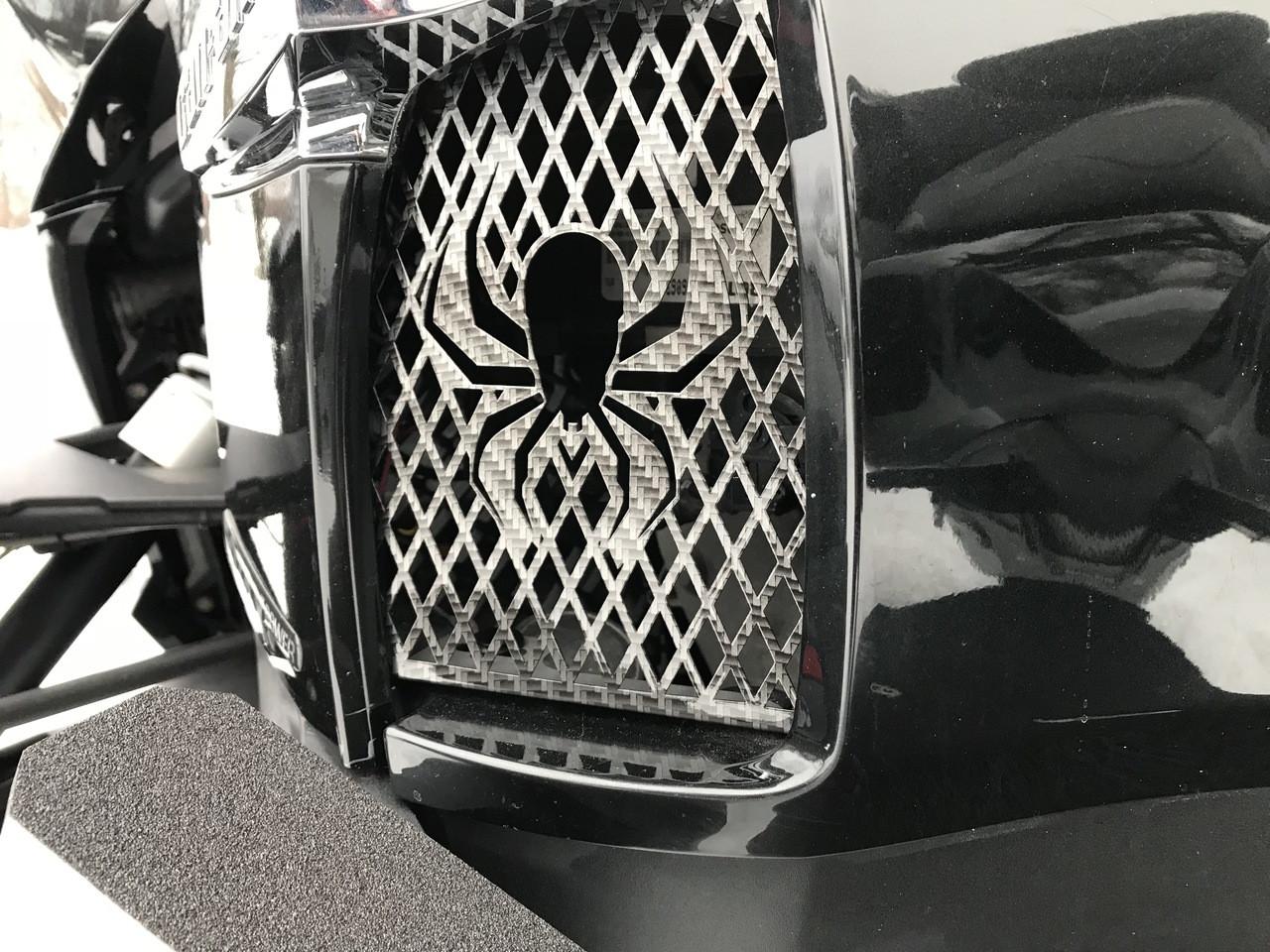 Grilles de côté pour série RT - Carbone noir et gris - 2 Araignées