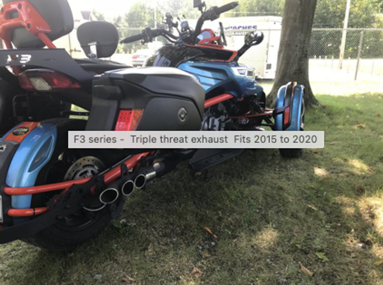 Série F3 - Silencieux d'échappement Triple threat - 2015 et plus