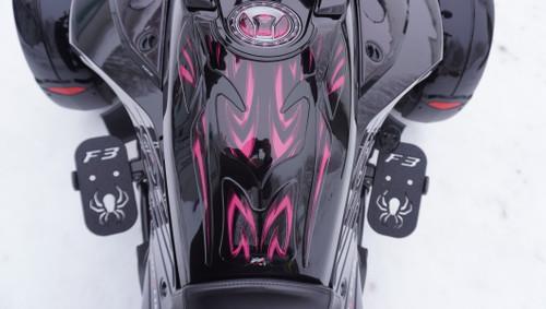 Spyder F3 Protecteur Réservoir Essence - #102 Rose - Polyuréthane