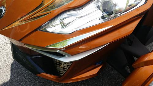 Spyder RT 2014-2019 Accent Chromé #103 - Dôme Polyurethane