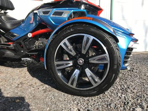 F3 Spyder Accent Chromé/Carbone Enjoliveur BRP #601 (24 pcs)