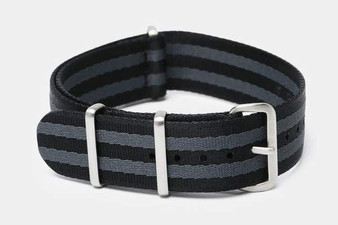 "22mm Black & Gray Bond ""SB"" Seat Belt strap"