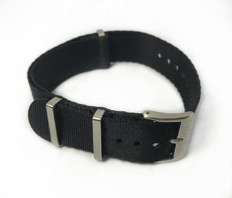 "Solid Black ""SB"" Seat Belt strap"