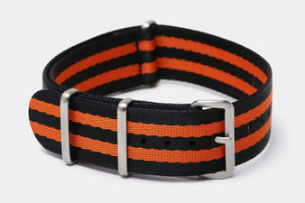 "Black & Orange Bond ""SB"" Seat Belt strap"