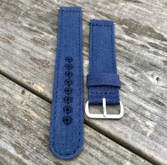 Navy Blue Canvas Strap