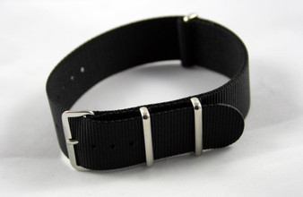 22mm Black Premium Nylon  Strap