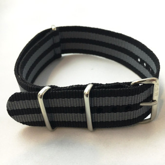 "Premium ""Black & Gray Bond"" Nylon Strap"