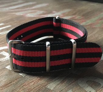 Black/Red Bond Premium Nylon Strap