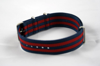 Navy/Red Bond Premium Nylon Strap