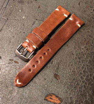 Custom Hand Made Horween Whiskey Leather Strap