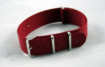 Dark Red Premium Nylon Strap