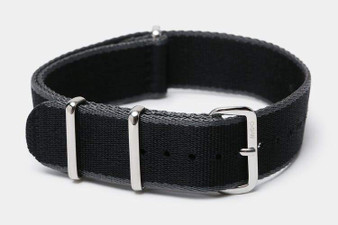 "Black/ Gray Edge ""SB"" Seat Belt Strap"