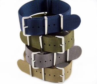 18mm Navy Blue Premium Nylon Strap