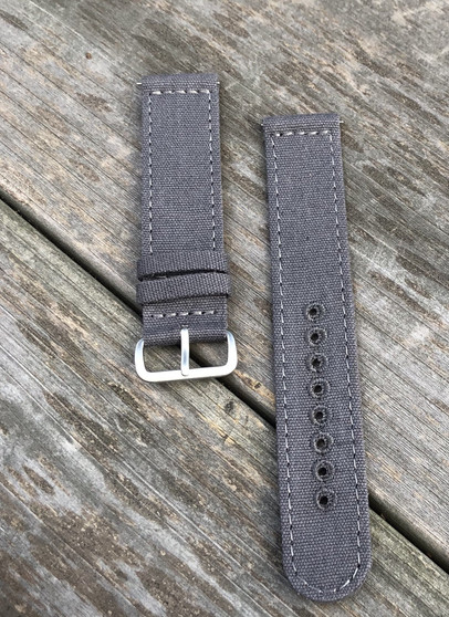 Gray Canvas Strap