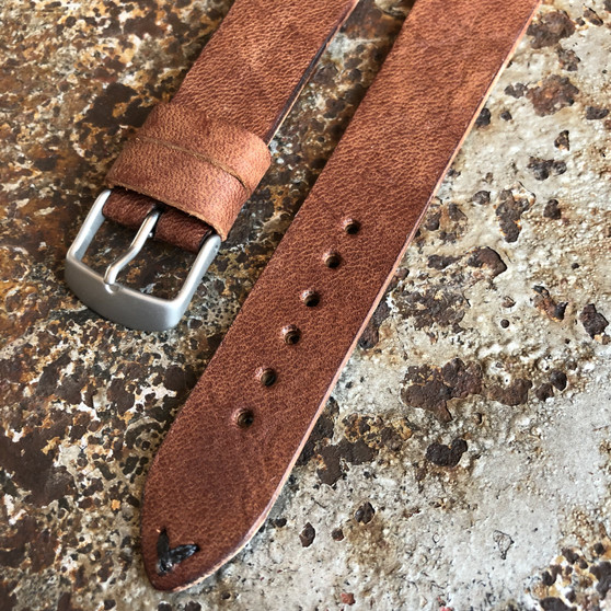 Custom Handmade Horween Apoco Brown leather strap