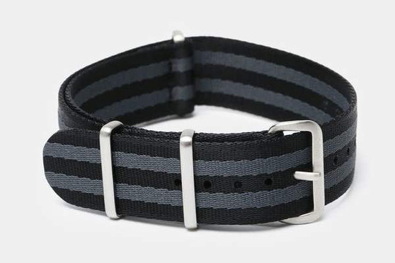 "20mm Black & Gray Bond ""SB"" Seat Belt strap"