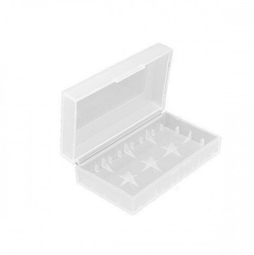 Dual Square Clear Battery Case for 21700