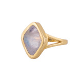 stella - rainbow moonstone and gold signet ring by Irish jewellery designer Emma by Jane - designed in Dublin, Kildare, Ireland by Jane Asple