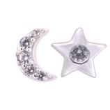 STAR AND MOON SILVER EARRINGS