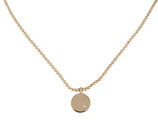 AYDA INITIAL DISC NECKLACE