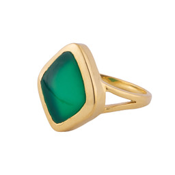 Diana - green onyx and gold signet ring by Irish jewellery designer Emma by Jane - designed in Dublin, Kildare, Ireland by Jane Asple