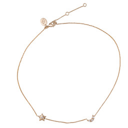ASTRID STAR & MOON NECKLACE