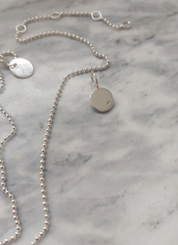 AYDA SILVER INITIAL NECKLACE