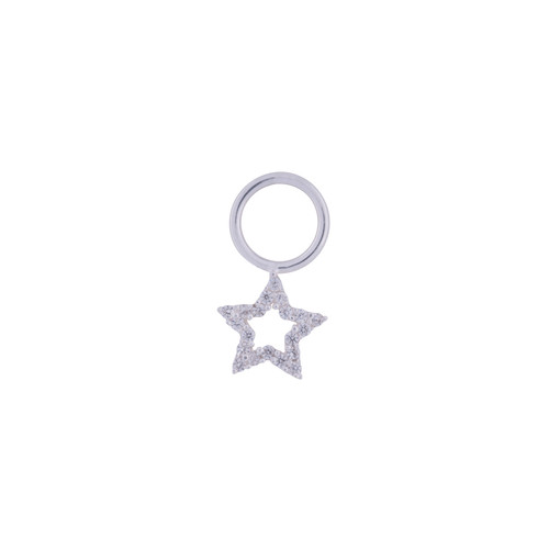 SILVER STAR NECKLACE CHARM