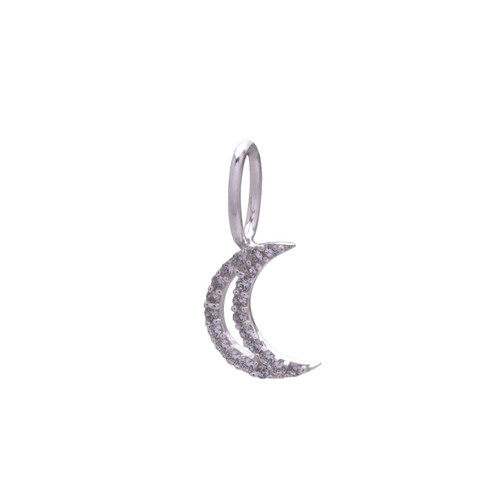 SILVER MOON NECKLACE CHARM