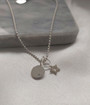 Pair your Star Charm with our Hazel Silver Beaded Necklace & Silver Initial disc charm to create your own look